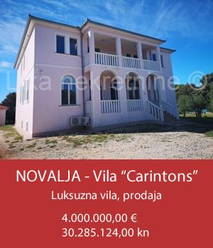 "NOVALJA - Vila ""Carintons"""